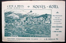 FRANCE Beuil*1900s Advertising Postcard*NOUVEL  HOTEL