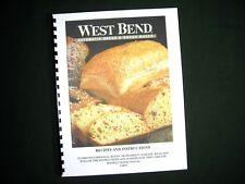 West Bend 41080 41080R Bread Maker Machine Instruction Manual w/ Recipes 41080 R