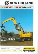 NEW Holland Escavatore MH6.6 & MH8.6 industria Opuscolo-bx109