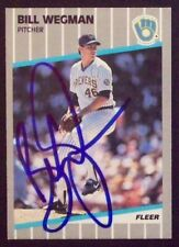 Bill Wegman Milwaukee Brewers 1989 Fleer Signed Card