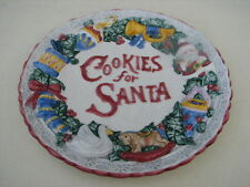 Omnibus By Fitz & Floyd Cookies For Santa Decorative Plate