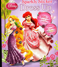 Disney Princess Sparkly Sticker Dress Up (Dress-Up Doll) Activity Book - NEW