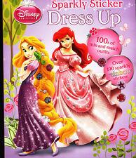 Disney Princess Sparkly Sticker Dress Up (Dress-Up Doll) Activity Book - NEW