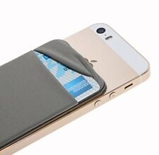 With Lid -Grey New Phone iphone back Card Holder Stick Sticker Wallet Case cover