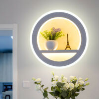 Indoor 18W LED Wall Sconce Light Fixture Acrylic Lamp Flower+Tower Decor Bedroom