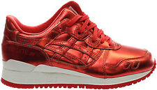 New ASICS Tiger Wmn Sz 8.5 GEL-Lyte III Shoes H6E5K Red Patent Leather Running
