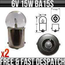 6V 15W BA15S CLASSIQUE MOTO / SCOOTER AMPOULES P244A PAQUET DE 2