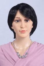 Perruque Weiblich (Féminin) pour Mannequin de Vitrine Noir D5 Femme, Neuf