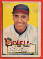 1952 Topps Red Back #88 Bob Feller VG MARKED WRINKLE Cleveland Indians FREE S/H