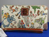 Disney Dooney Bourke White TOY STORY 4 Coated Canvas Zip Around Wallet Wristlet