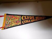 VINTAGE CLYDE BEATTY COLE BROS. CIRCUS PENNANT