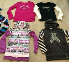 Lot 4 Girl Sweatshirt Hoodie Jacket Hooded Brown Striped Black White Pink L/XL