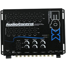 AUDIOCONTROL EQX 2-CHANNEL 13-BAND EQUALIZER w/ BUILT-IN 24dB/OCTAVE CROSSOVER
