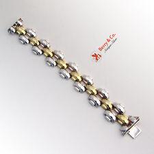 Tractor Tread Chain Wide Bracelet Sterling Silver