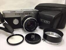 [As is] Olympus Pen F Half Frame Camera w/ F.Zuiko Auto-S 38mm f/1.8 from Japan