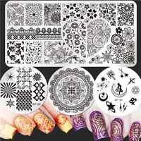 Born Pretty Nail Art Stamping Plates Arabesque Moon Image Stamp Templates Set