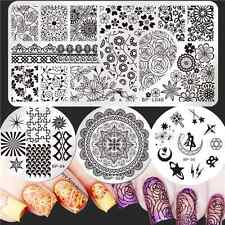 BORN PRETTY Nail Art Stamping Plates Arabesque Moon Image Stamp Templates Set