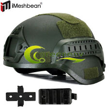 MICH 2000 Airsoft Tactical Hunting Combat Helmet w/ Side Rail Mount Army Green