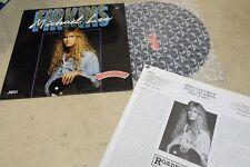 "MICHAEL LEE FIRKINS S/T 1990 KOREA VINYL LP 12"" w/INSERT EX roadrunner"