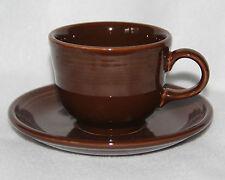 Fiesta Festaware - Standard 0452 Teacup and 0470 Saucer  -  Chocolate Brown