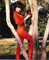 FRANCINE YORK AUTOGRAPH SEXY DIVA IN RED 8X10 SIGNED PHOTO TV MOVIE LEGEND