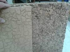 2 Fogli di sughero 50x50cm  spesso 1 cm roccia e pavimento presepe crib shepherd