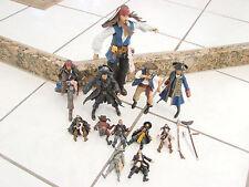 "Jakks Pirates Of The Caribbean Barbossa Balckbeard + 12"", 6"" and 3"" figures lot"
