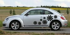 universal Flowers 01 car Sticker Decal Graphics - Choose Colors! fits vw beetle
