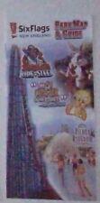 2001 Six Flags New England Park Map & Guide Amusement Park Brochure