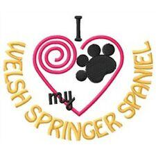 """I """"Heart"""" My Welsh Springer Spaniel Short-Sleeved T-Shirt 1374-2"""