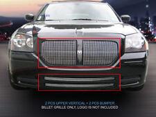 Polished Vertical Billet Grille Grill Combo Insert For Dodge Magnum 2005-2007