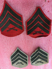 F8 Lot of 4 Vintage Military patches patch cross guns time frame unknown