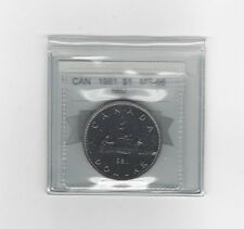 **1981**Coin Mart Graded, Canadian, Nickel Dollar, **MS-66 NBU**