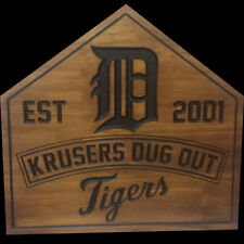 Personalized custom engraved Baseball wood sign.  Great for man cave, den etc