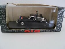 Rio Citroen 1961 Model DS 19 Italy in Case and Box W/Papers Black  Diecast Model