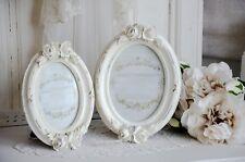 Bilderrahmen Rahmen oval klein hoch Rosen Foto shabby Chic vintage Nostalgie
