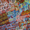 PRINT ON CANVAS aboriginal art painting jane crawford  100cm x 100cm