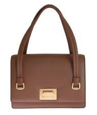 DOLCE & GABBANA Authentic Brown Leather Hand Purse Satchel Sicily Bag