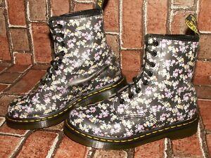 Dr. Martens 1460 MINI TYDEE meadow floral leather boots uk 4 eu 37 us 6 Doc#150