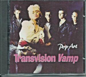"""TRANSVISION VAMP """"POP ART"""" RARE ORIGINAL 1988 DEBUT GERMAN IMPORT CD LIKE NEW"""
