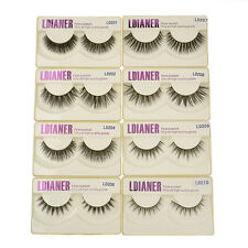 Elegant 100% Real Mink Long Natural Thick Makeup Eye Lashes False Eyelashes