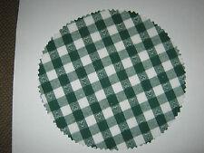 14 Stoffdeckchen / Hauben  grün/weiß mit Herzchen für Marmeladengläser Deckchen