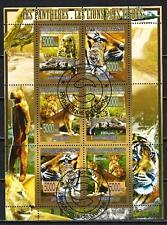 Animaux Félins Guinée (155) série complète 6 timbres oblitérés