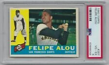 1960 TOPPS -#287 -FELIPE ALOU - LOW POP -PSA GRADED VG-EX 4- Original/Vintage