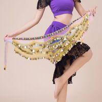 New Belly Dance Hip Scarf Dancing Coins Sequin Women Waist Chain Skirt Belt Wrap