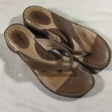 Born Womens Sz 9/40.5 Sandals Thongs Shoes Brown