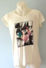 Roxy Women Printed T Shirt - CREAM - SIZES - XS,S & M - NEW
