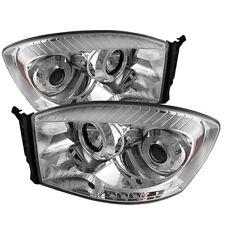 Per Dodge 06-08 RAM Cromo Doppio Halo LED Proiettore Fari Testa Luce Lampada