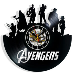 Avengers Vinyl Record Wall Clock Gift Surprise Ideas Best Friends Birthdays