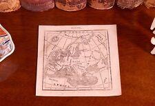 Rare 1823 Original Antique World Map EUROPE England Ireland France Italy Spain